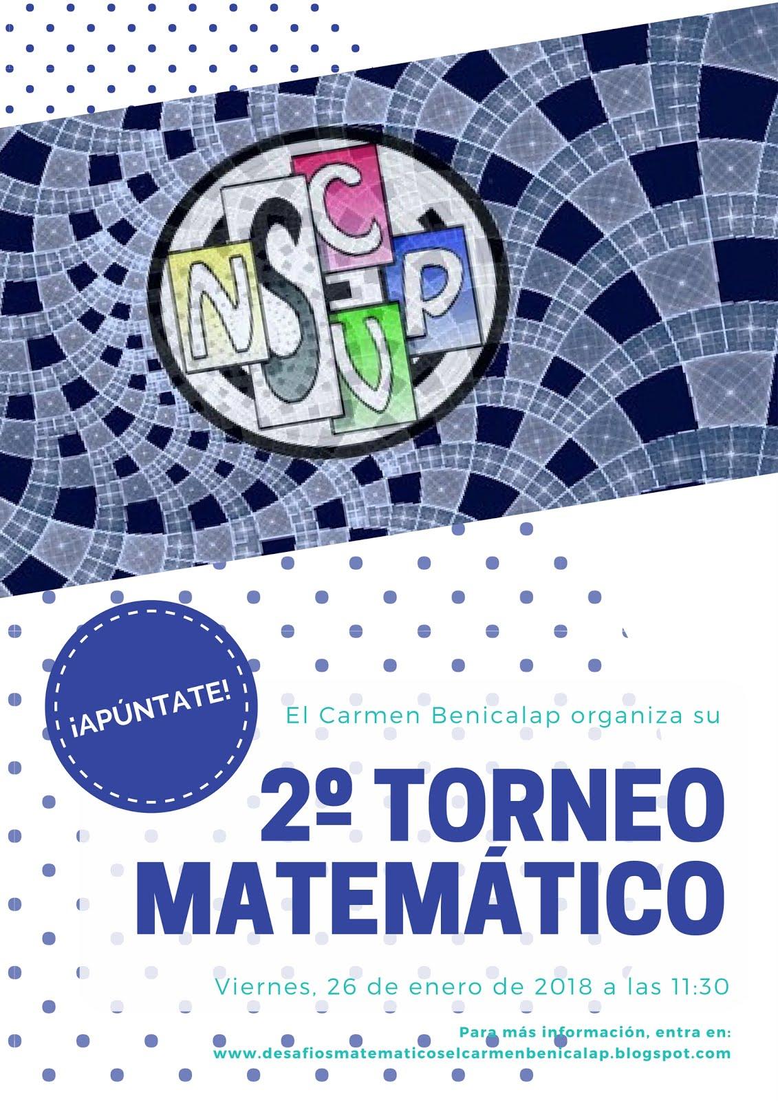 2º Torneo matemático ¡RESULTADOS!