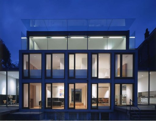 Contemporary architecture glass house in highgate village for Modern architecture house london