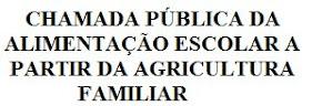 CHAMADA PÚBLICA DA ALIMENTAÇÃO ESCOLAR