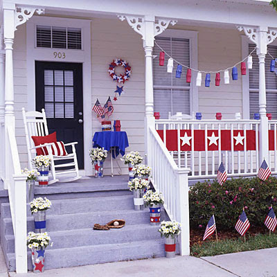 Two men and a little farm inspiration thursday red white - Red white blue decorations ...