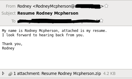 Beware of emails with resume attachments as Phishers still use ...