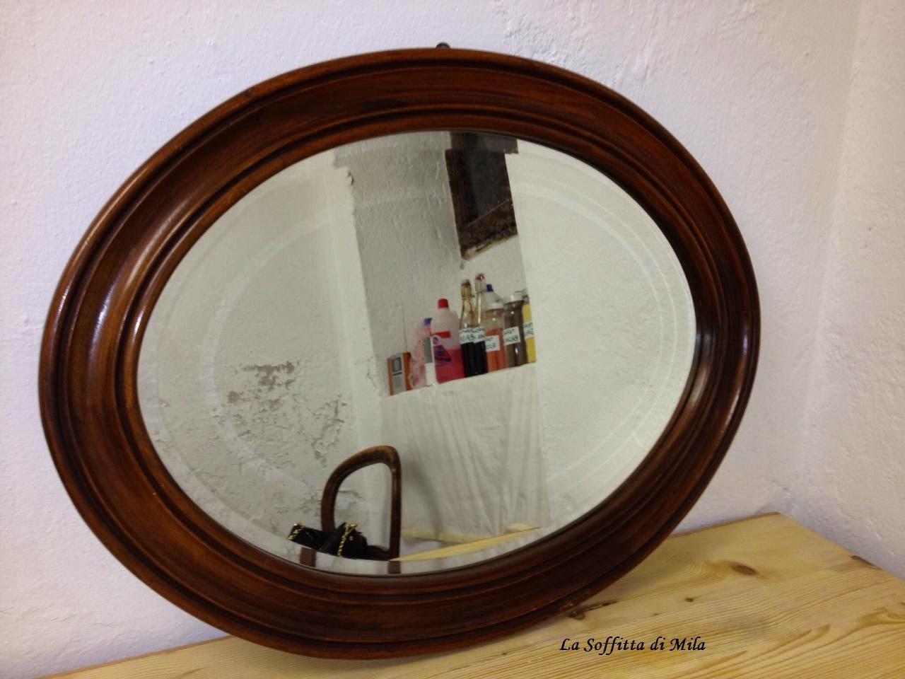 La soffitta di mila lo specchio in cantina for Lo specchio