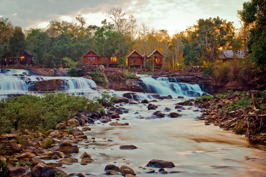 cascadas de agua para los hogares y cabañas