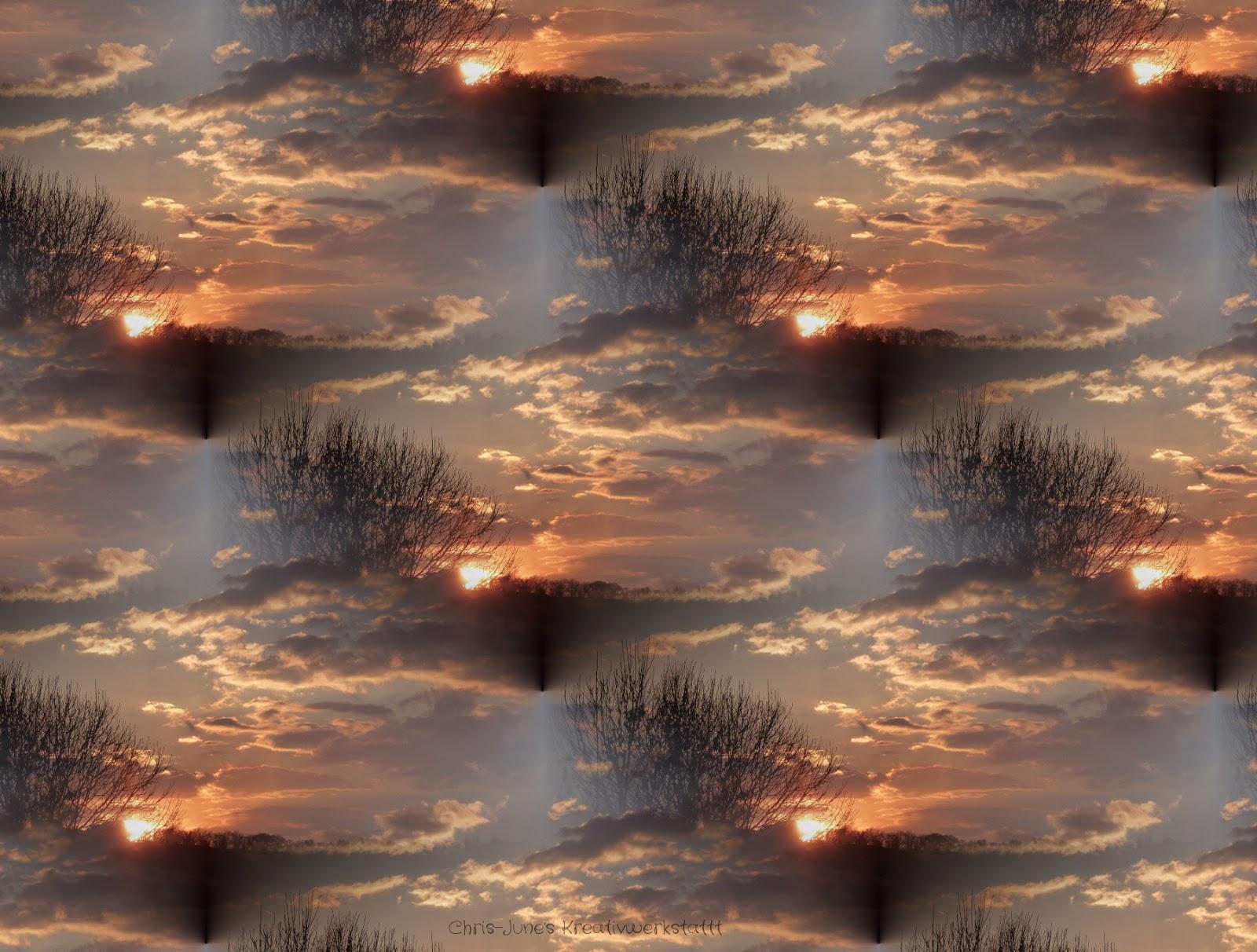 Sonnenuntergangs-Muster