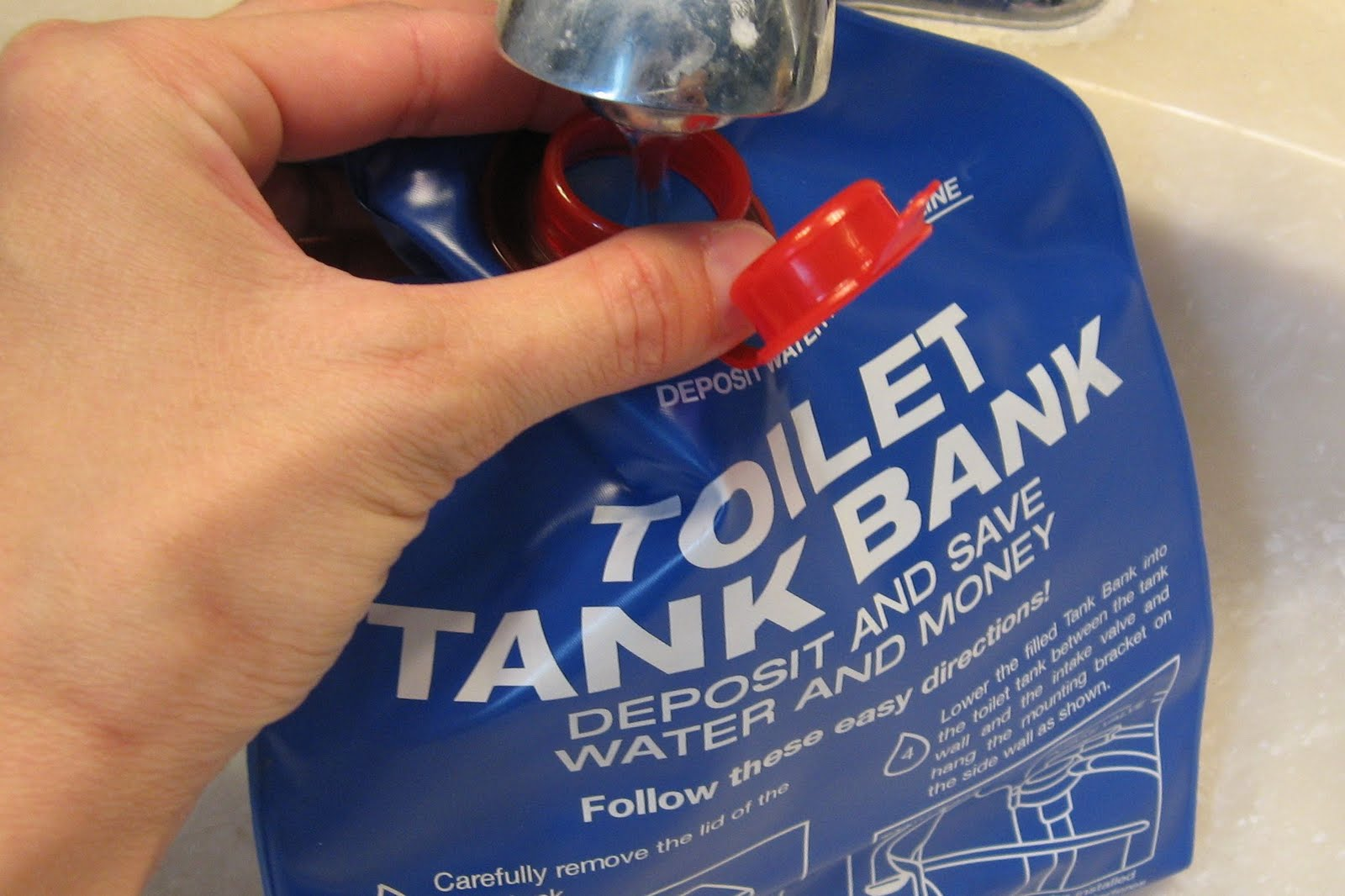 Convert a regular toilet to low-flow and save water • Brown Thumb Mama