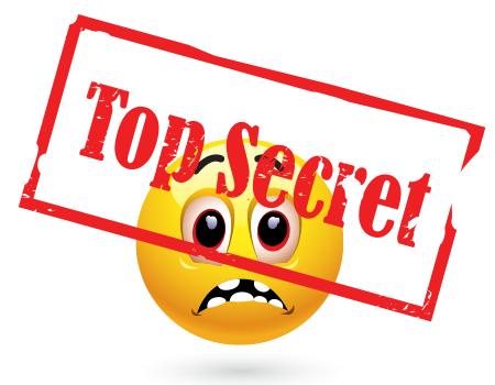 Top secret emoticon