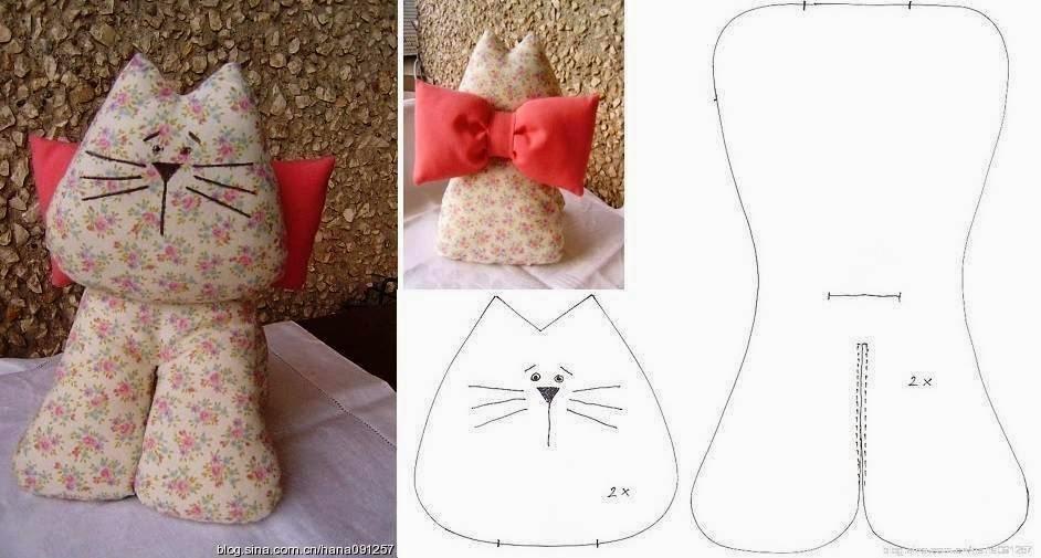 15 gatti di stoffa cucito creativo tutorial e cartamodelli for Fermaporta fai da te