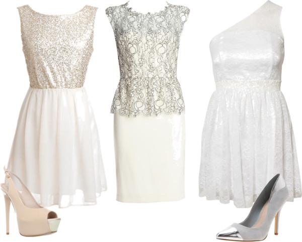 vestidos de noiva curtos branco