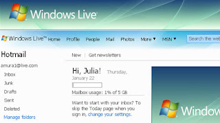 Hotmail mensajeria servidores