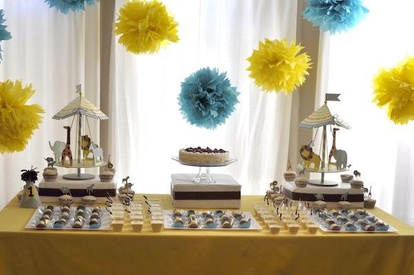 decoracao festa infantil azul e amarelo:achei super simples e ao mesmo tempo sofisticado e diferente