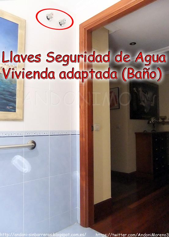 Llaves de seguridad de agua en vivienda adaptada ba o for Llaves de agua para bano
