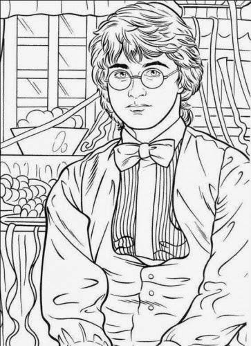 imprimir desenhos do harry potter rony e hermione