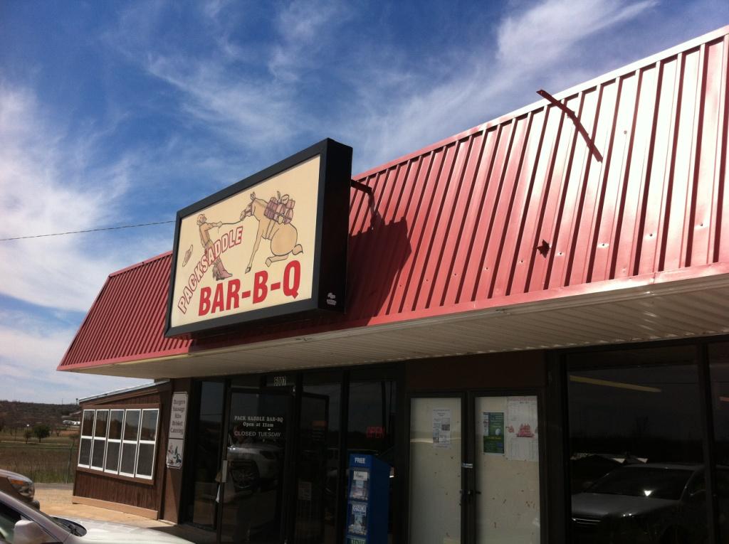 Packsaddle bar b q full custom gospel bbq for Fish store fort worth