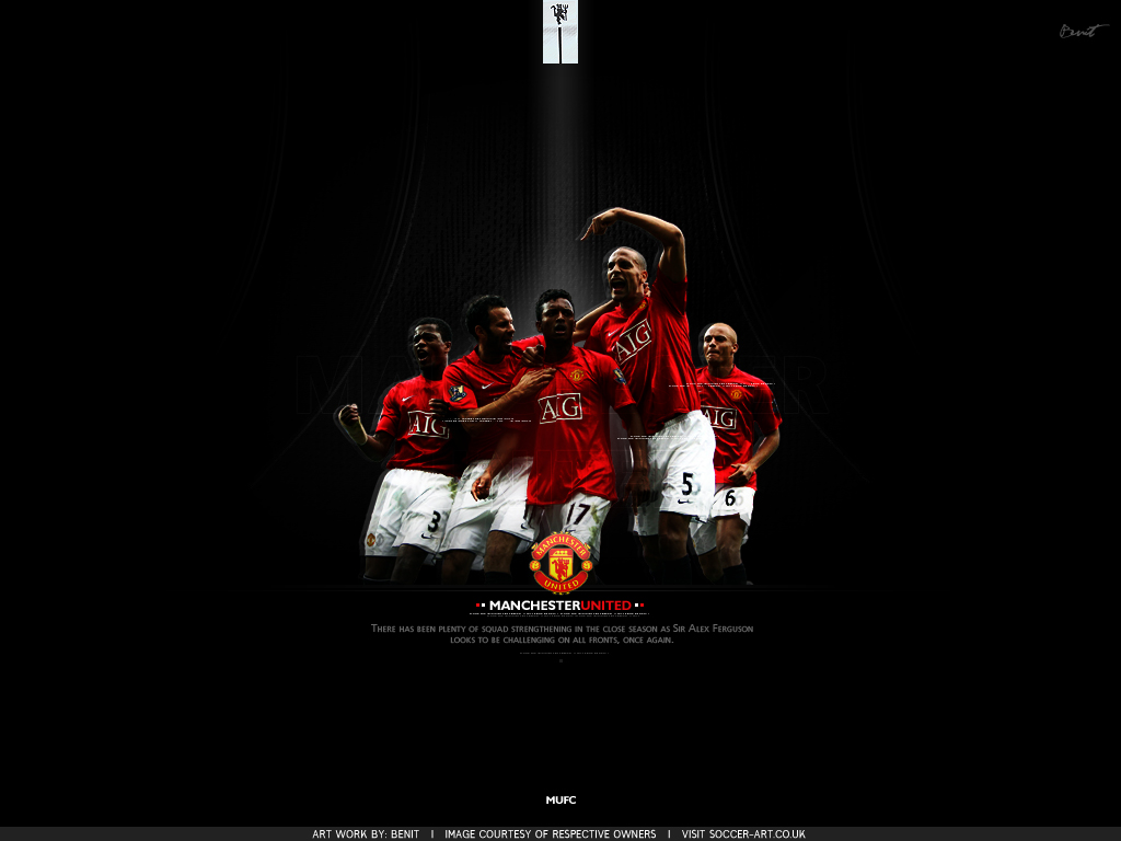 MUFC Black Wallpaper
