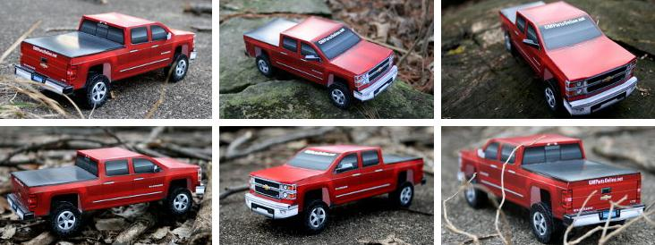 papermau build your own 2014 gmc silverado paper model by gm parts online. Black Bedroom Furniture Sets. Home Design Ideas