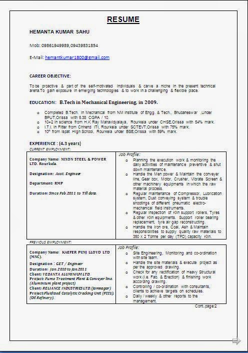 Wipro Resume Format Cv Sample Safety Officer Pay Professional