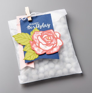 Stampin' Up! Rose Garden Thinlits Treat Bag #stampinup party favor birthday gift