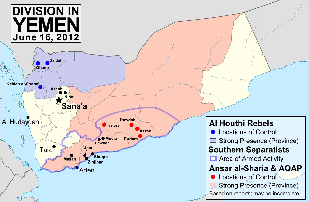 Yemen Conflict Map Update 3 Political Geography Now