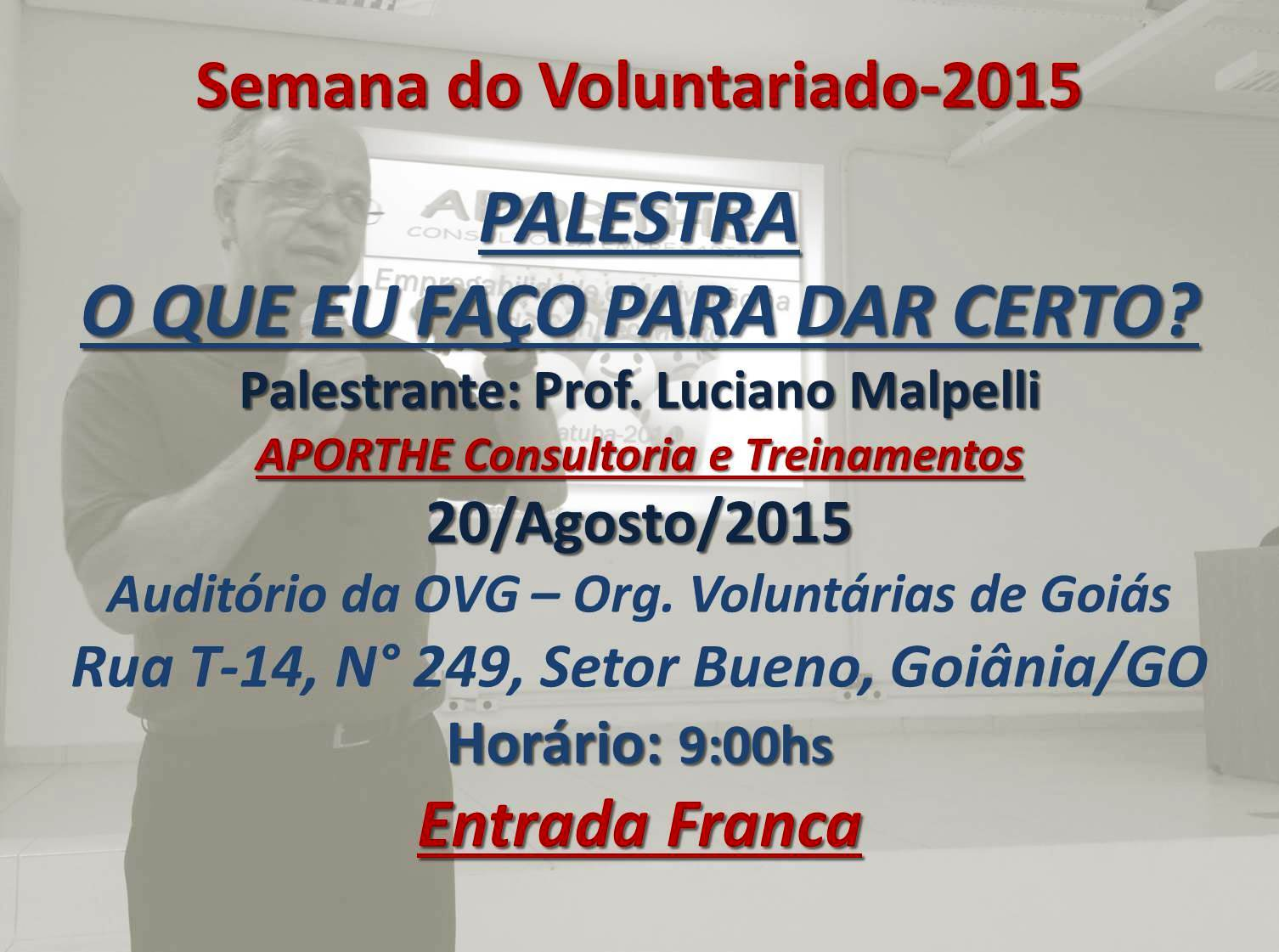 Palestra 20/08/2015 - Goiânia-GO