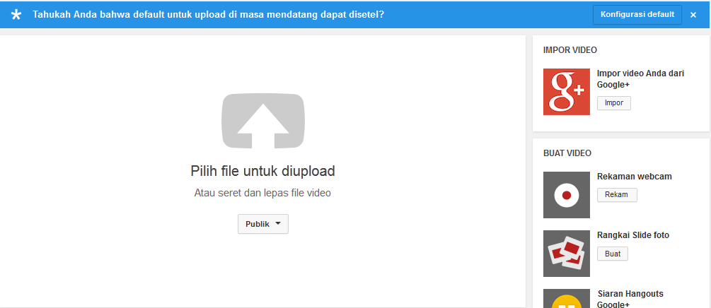 cara upload video ke youtube lewat hp