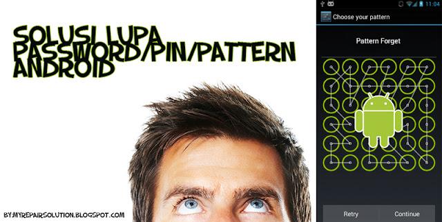cara membuka pattern android