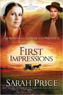 Book cover: First Impressions; An Amish Tale of Pride and Prejudice by Sarah Price