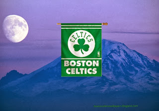 Boston Celtics Flag, Desktop Wallpapers Boston Celtics Flag Logo at Ascent Moon Blue Mountain