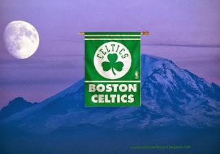 Boston Celtics Flag, Desktop Wallpapers Boston Celtics Flag Logo at Ascent Moon Blue Mountain