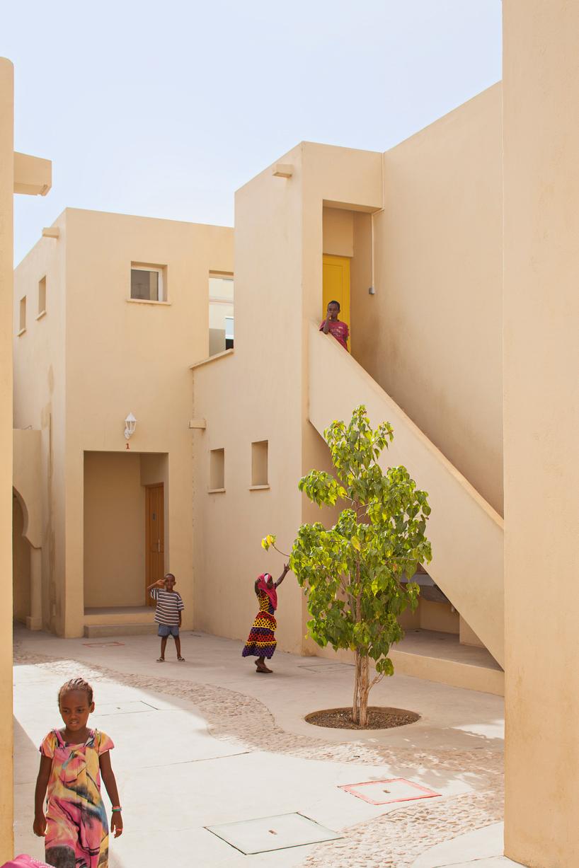 The village children in Djibouti