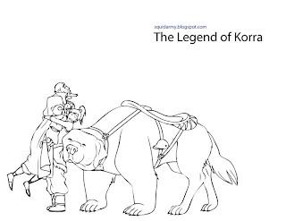 avatar legend of korra coloring pages korra and kids