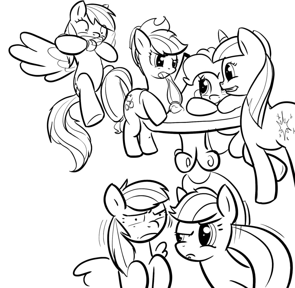 Free Rainbow Dash Pinkie Pie Coloring Pages