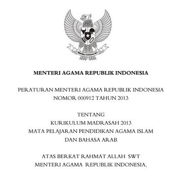 Permenag Nomor 912 Tahun 2013