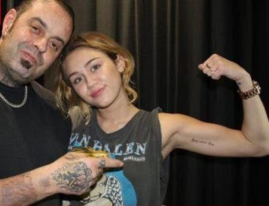 Miley Cyrus Gets 12th Tattoo