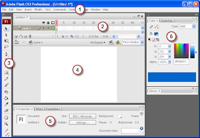 Layar Interface Flash CS3