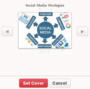 Pinterest board custom cover image