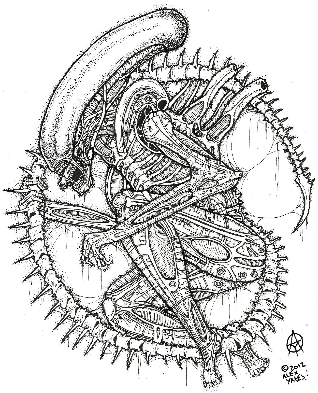 Alien xenomorph coloring pages coloring pages for Xenomorph coloring pages
