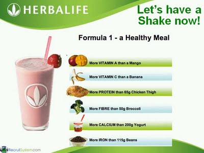 Herbalife 2 shakes a day