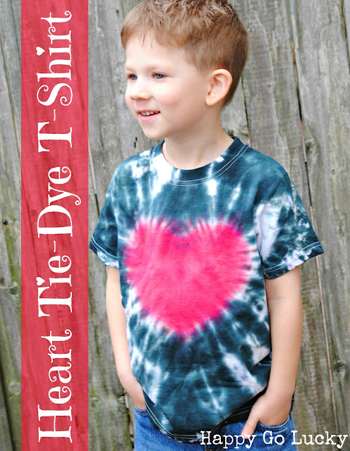 heart tie-dye t-shirt