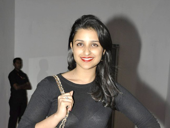 Parineeti Chopra  in blck dress - Parineeti Chopra at FICCI Frames 2012 awards night
