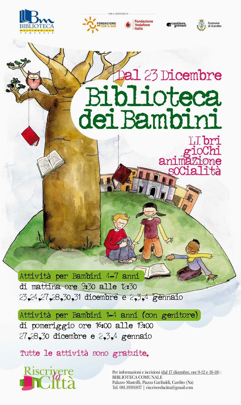 LA BIBLIOTECA DEI BAMBINI A PALAZZO MASTRILLI
