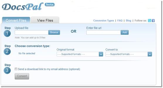 conversion de fichier avec docspal