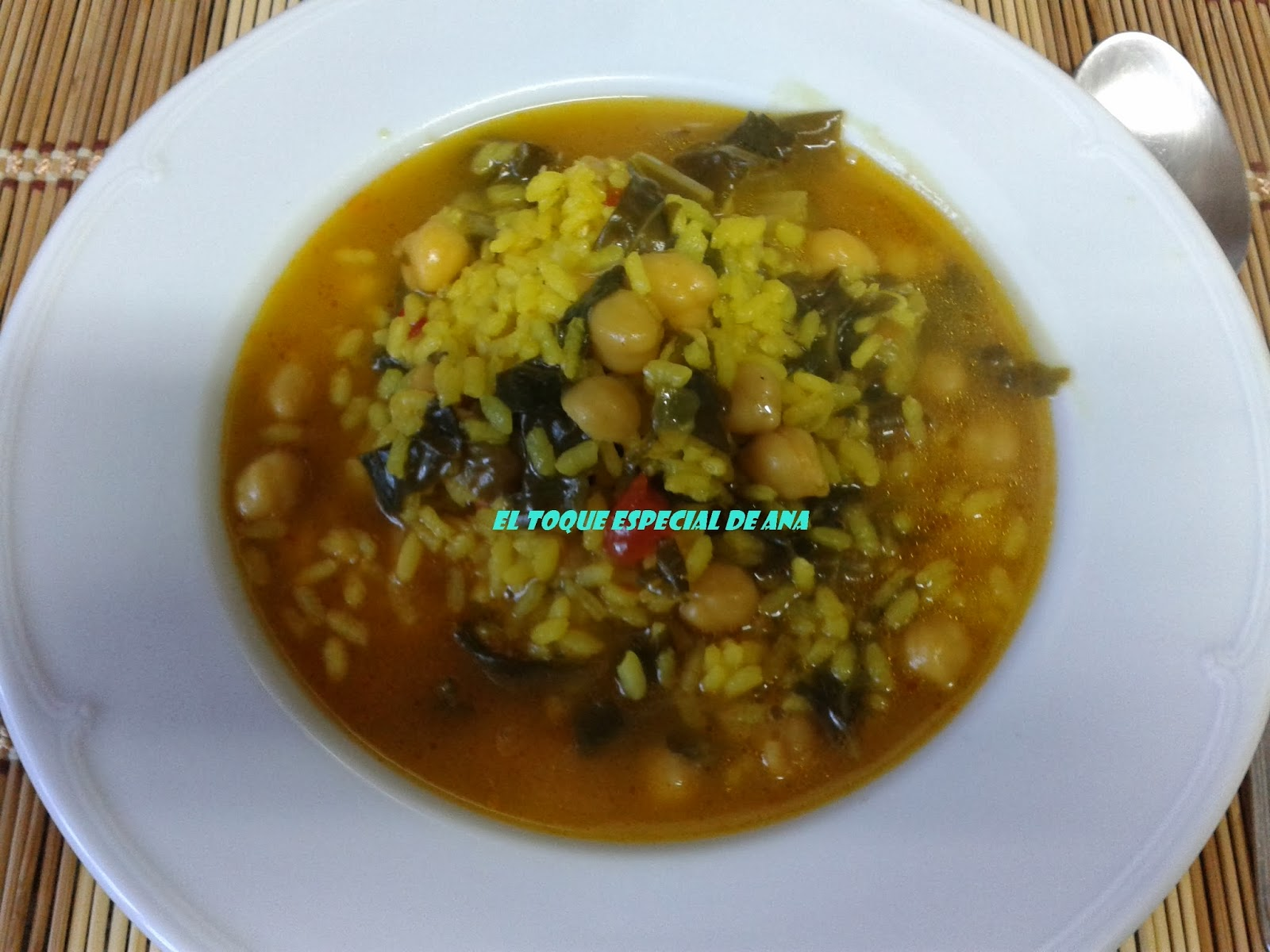 El toque especial de ana potaje de garbanzos con arroz - Potaje garbanzos con arroz ...