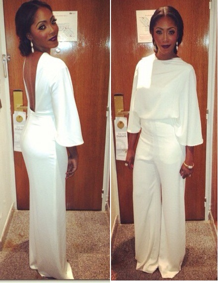 Tiwa Savage's In All White Jumpsuit At Dionne Warwick Sister Sledge Concert Last Night @Eko Hotel