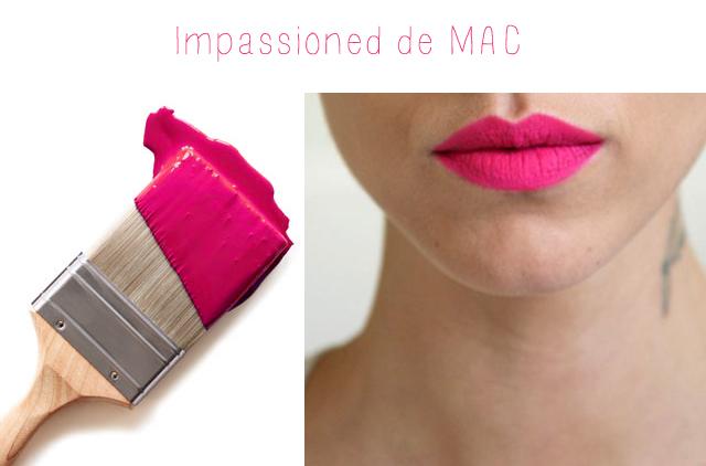 Rouge à lèvres fuchsia impassioned de Mac