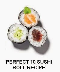 PERFECT 10 SUSHI ROLLS