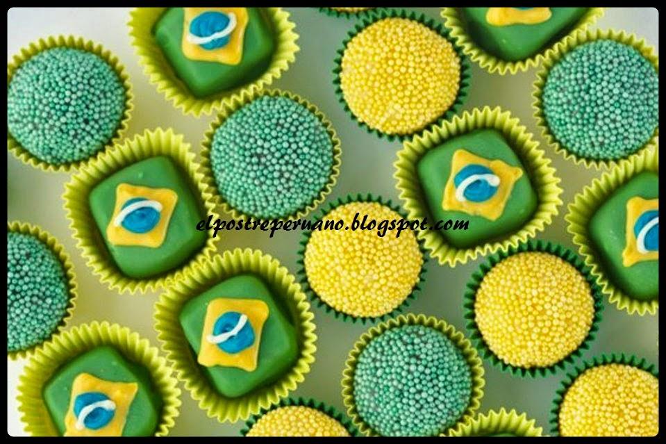 postre con motivo brasileño