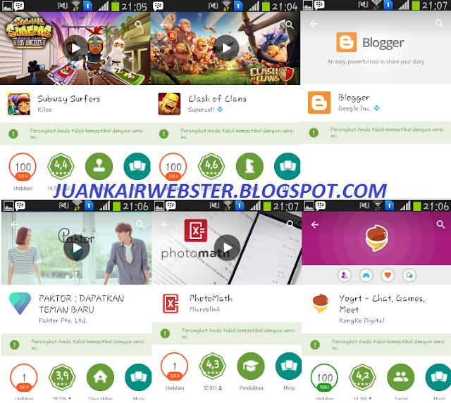 Cara Mengatasi Perangkat Tidak Kompatibel Pada PlayStore