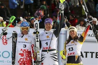 víťazky slalom Are, Riesch Zuzulová Gagnon