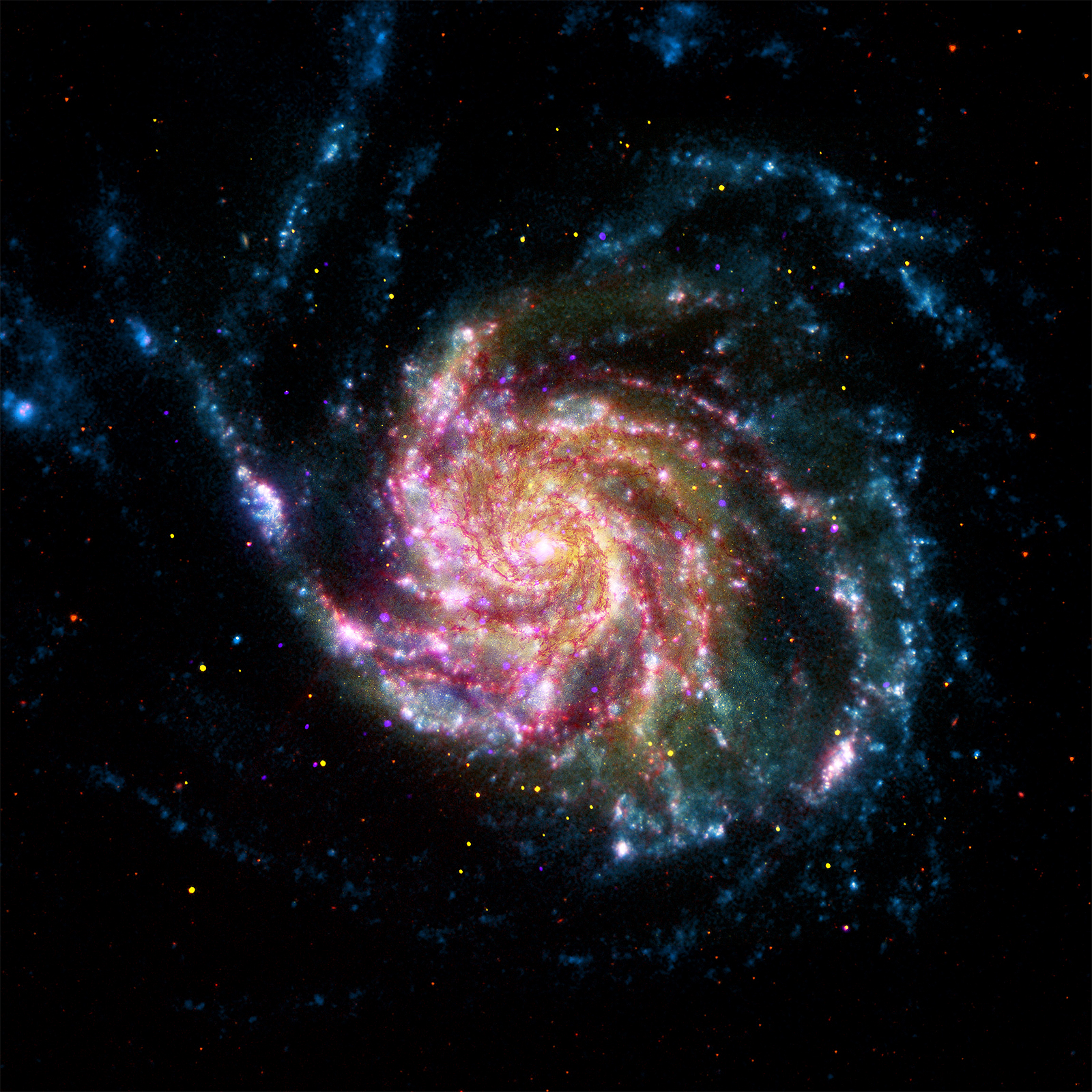 Spiral Galaxy M101 in a beautiful composite image!