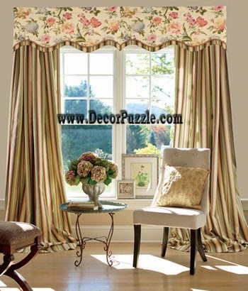 french country curtain style from striped curtain fabrics 2016